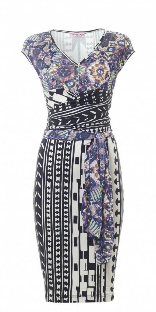 TESSA KOOPS CLAIRE AZTEC DRESS