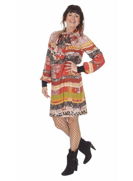 TESSA KOOPS PUSSY BOW MIXTA DRESS