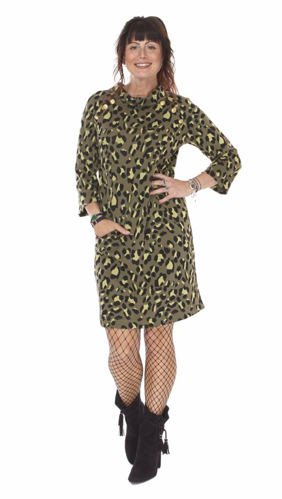 TESSA KOOPS MAXIM LEO GREEN DRESS