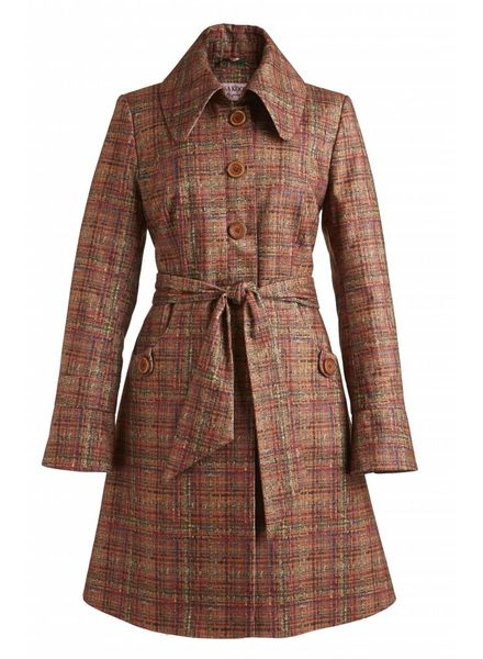 TESSA KOOPS TAMAR PRINTED TWEED COAT