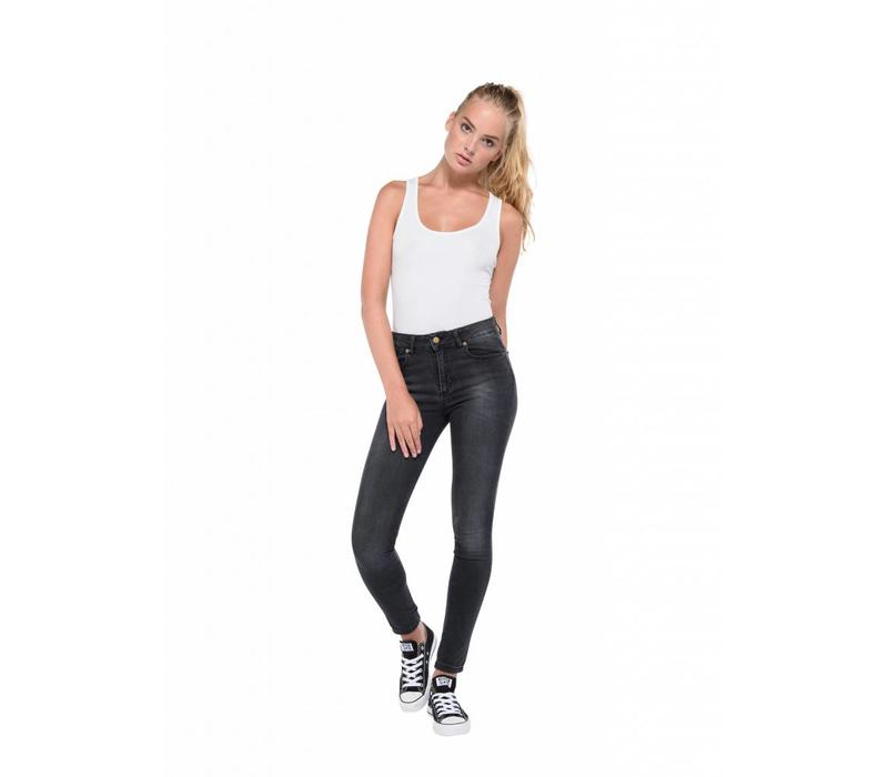 Cordoba High Rise Skinny Jeans Dark Grey L32