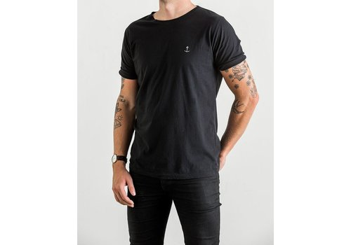 The Blue Uniform Embo Tee Black