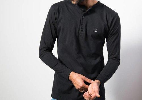 The Blue Uniform Henley LS Black