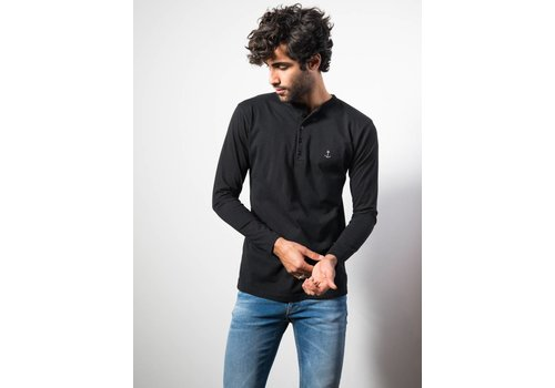 The Blue Uniform Henley LS Black