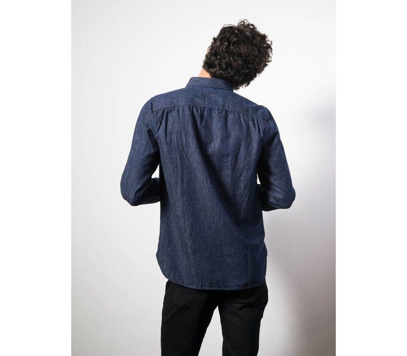 Shirt Hidden Compact Selvage Dark Indigo