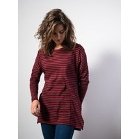 Tinibay Longsleeve Striped Navy Red