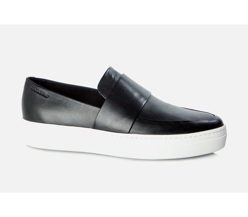 Camille Black Leather Loafer