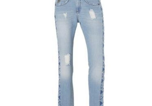 Lois Jeans Belinda Boyfriend Embroidered Double Stone Washed