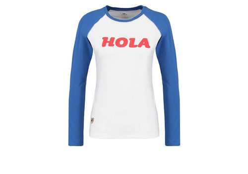 Lois Jeans The U Baseball Tee Longsleeves White And Blue