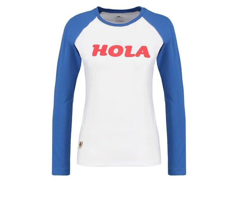 The U Baseball Tee with Longsleeves In White And Blue