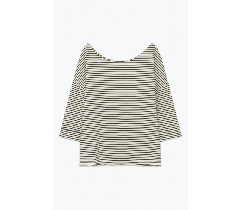 Ricobeach Top Ecru Striped Navy