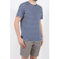 Terry Stripe T-Shirt White Navy