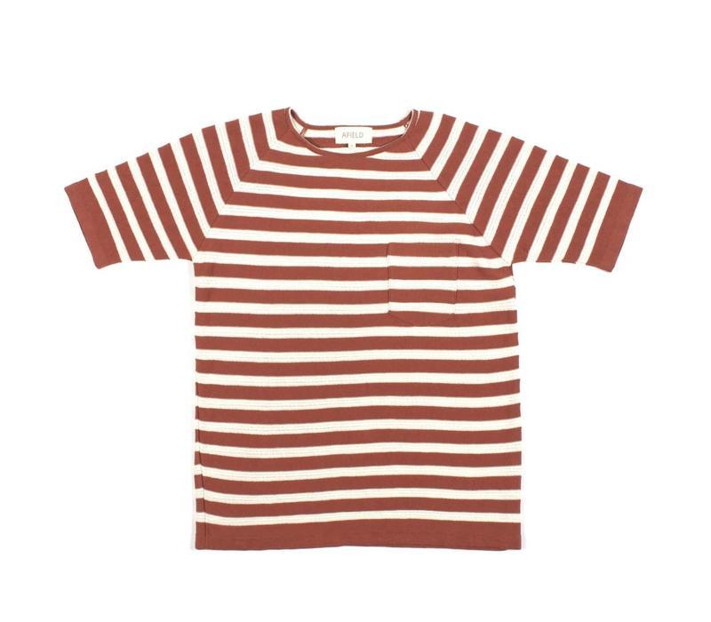 Knitted T-Shirt Brick White