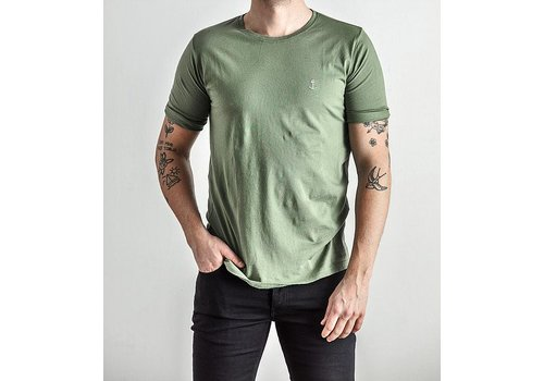 The Blue Uniform Embo Tee Army Green