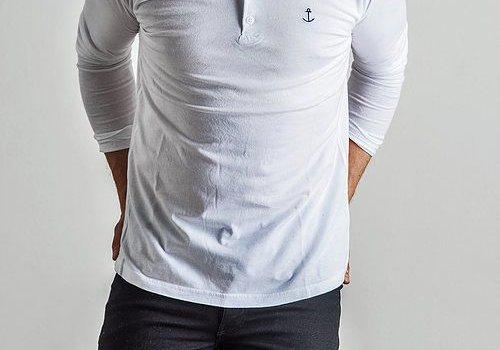 The Blue Uniform Embo Henley White