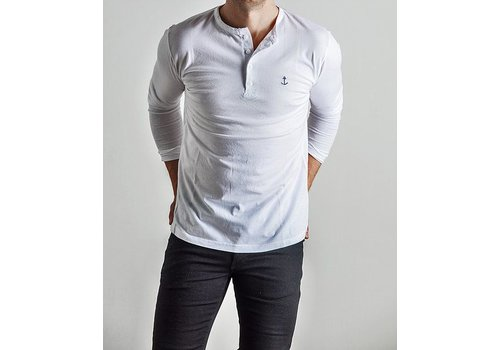 The Blue Uniform Embo Henley White