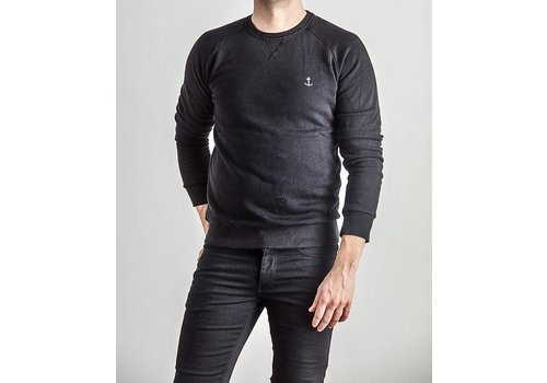 The Blue Uniform Embo Sweaters Black