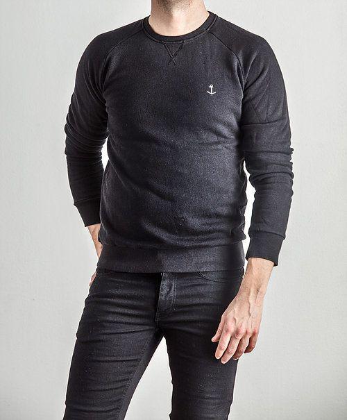 The Blue Uniform Embo Sweaters Black Rauw