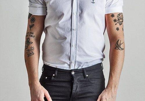 The Blue Uniform Herrman Short Sleeved Shirt White