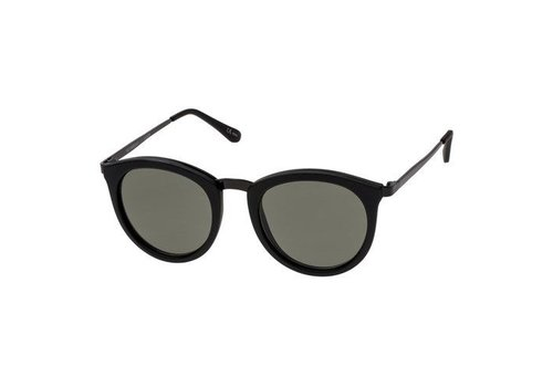 Le Specs No Smirking Black Rubber Khaki Mono Lens