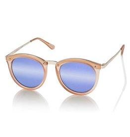 Le Specs No Smirking Matte Apricot Purple Mirror Lens