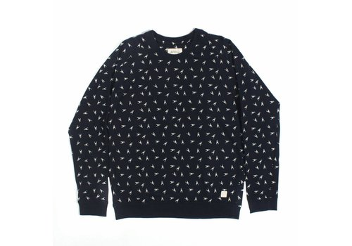 A Field Raglan Sweater Ski Jump Navy