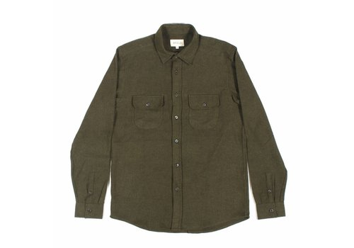 A Field Workwear Shirt Herringbone Green