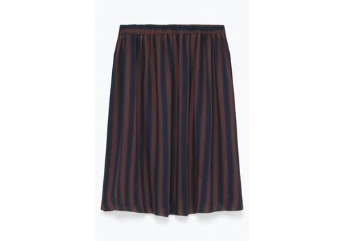 American Vintage Axiroad Striped Skirt Navy Brown