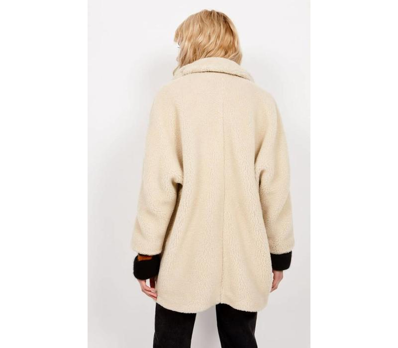 Patidole Teddy Coat Cream
