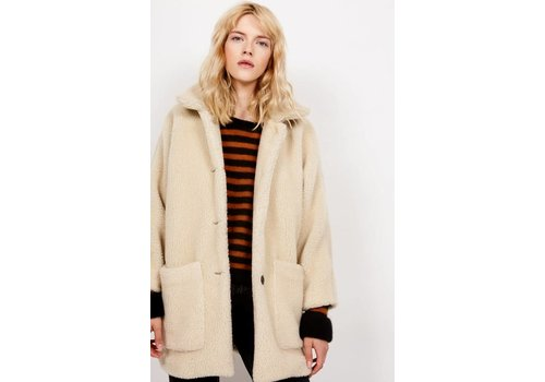 American Vintage Patidole Teddy Coat Cream