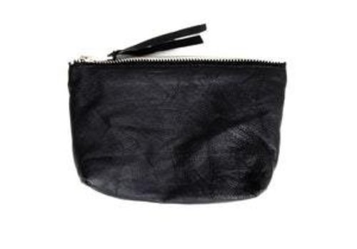 Deadwood Qai Toiletery Bag Black Recycled Leather