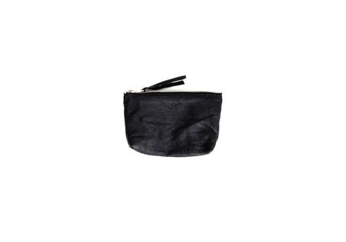 Deadwood Qai Toiletery Bag Black Recycled Leather
