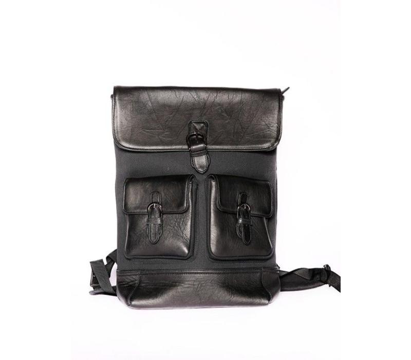 Lucas Leather Backpack Black