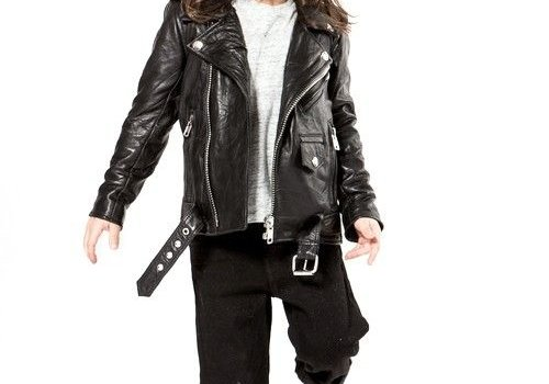 Deadwood Mini Biker Jacket Recycled Leather