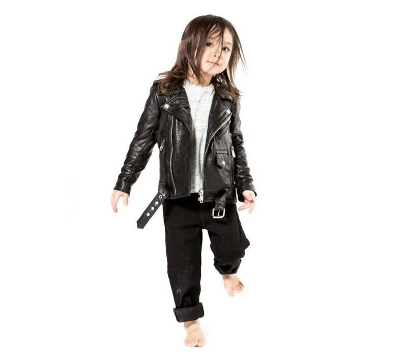 Mini Biker Jacket Recycled Leather