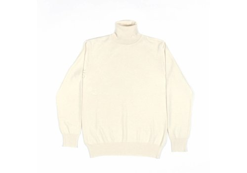 A Field Serge Cashmere Turtle Neck Pristine Cream