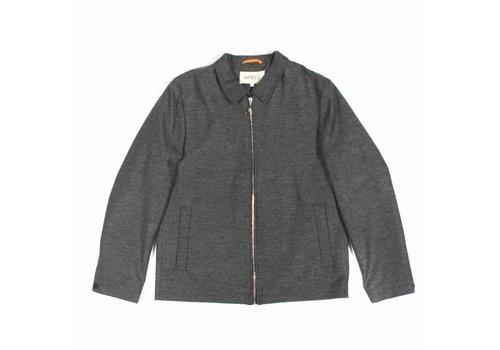 A Field Ortler Herringbone Jacket Grey