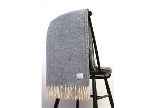 Coudre Berlin Wool Handwoven plaid Grey