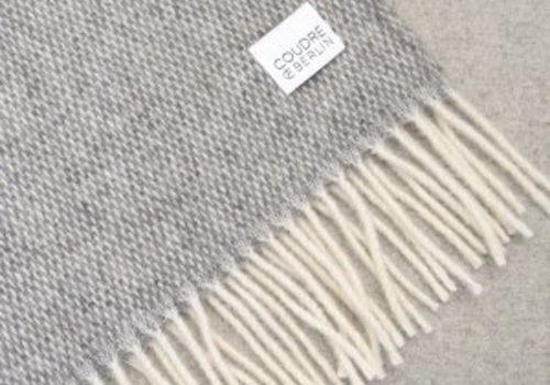 Coudre Berlin Wool Handwoven plaid Grey