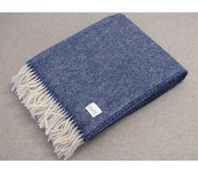 Wool Handwoven plaid Blue