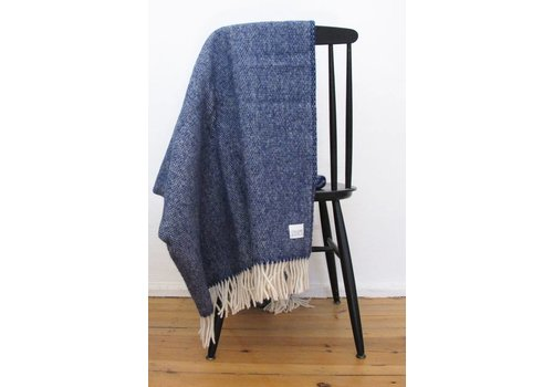 Coudre Berlin Wool Handwoven plaid Blue