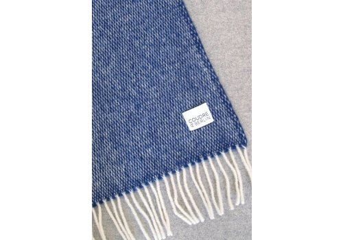 Wool Handwoven plaid Blue
