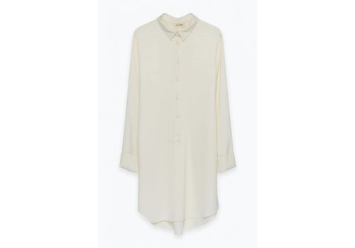American Vintage Arivagigi Long Shirt Off White
