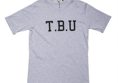 The Blue Uniform Johnny Tee TBU Grey Melange