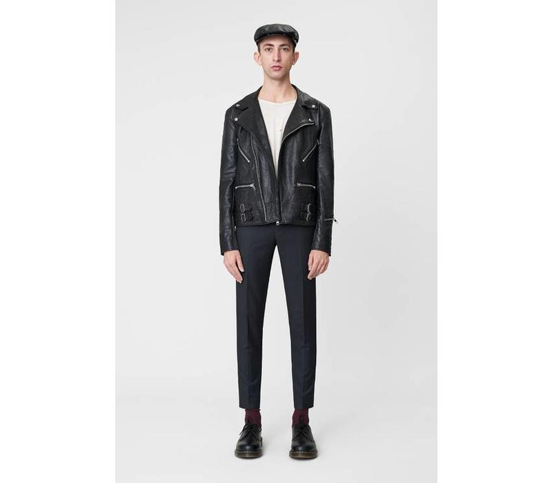 Vinnie Jacket Black Leather
