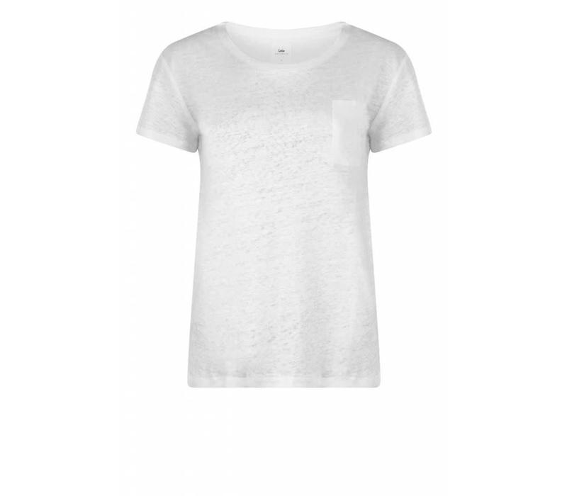 Airy Pocket Tee Linen Off White