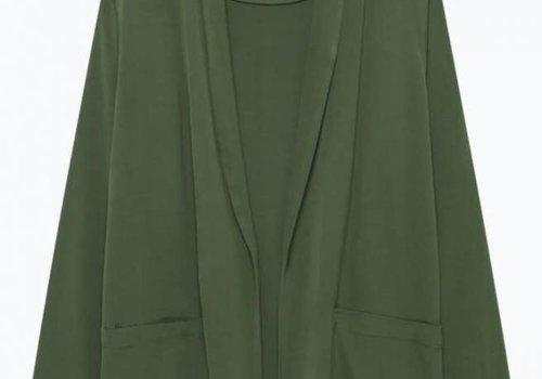 American Vintage Arivagigi Kimono Blazer Green
