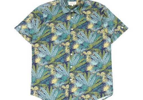 A Field Beach Shirt Green Palms