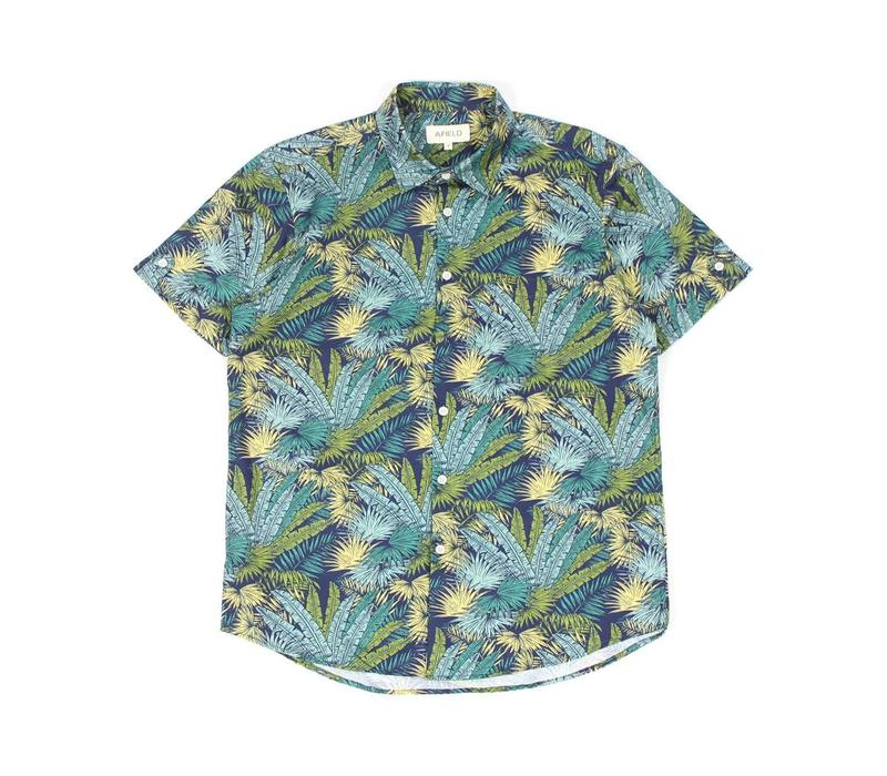 Beach Shirt Green Palms