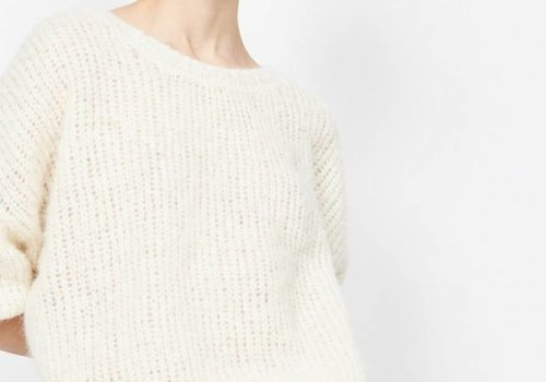 American Vintage Siribay Knit Pearl White